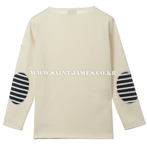 세인트제임스 웨쌍 무지 엘보패치 Ecru/ SAINTJAMES OUESSANG Guildo U Elbow Patch Ecru