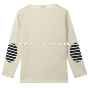 세인트제임스 엘보패치 Guildo U Elbow Patch Ecru(Marine/Ecru patch) SAINTJAMES OUESSANGGuildo U Elbow Patch Ecru(Marine/Ecru patch)