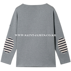 세인트제임스 웨쌍 무지 엘보패치 Gris/ SAINTJAMES OUESSANG Guildo U Elbow Patch Gris