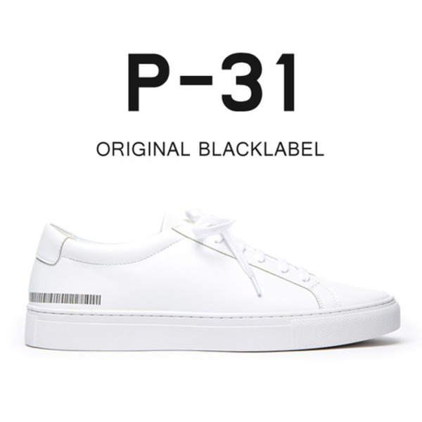 P-31 ORIGINAL BLACKLABEL 5.5CM 화이트 스니커즈